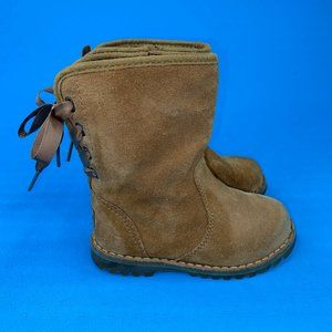 UGG Girls Brown Corene 1005146T Suede Round Toe Mid Calf Snow Boot Size US 7